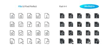File UI Pixel Perfect Well-crafted Vector Thin Line And Solid Icons 30 2x Grid for Web Graphics and Apps. Simple Minimal Pictogram Part 4-4 Stock Photography