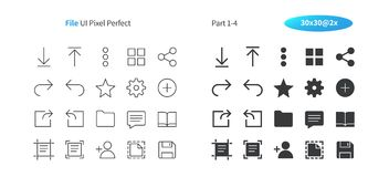 File UI Pixel Perfect Well-crafted Vector Thin Line And Solid Icons 30 2x Grid for Web Graphics and Apps. Simple Minimal Pictogram Part 1-4 Royalty Free Stock Image