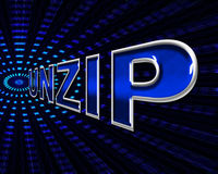File Unzip Represents Files Business And Document. File Unzip Showing Paperwork Business And Correspondence Stock Photos