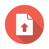 File upload icon. File upload  Glyphs Shadow Icon Royalty Free Stock Image