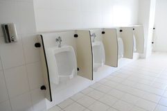 The file of urinals stock photo