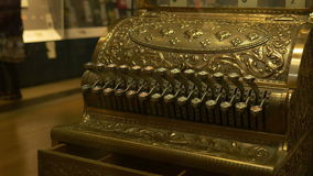 FILE: Vintage Cash Register stock video footage