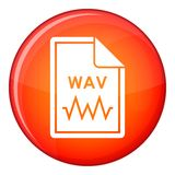File WAV icon, flat style Royalty Free Stock Photography