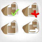 File web icon. This is file of EPS10 format Royalty Free Stock Photos