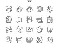 File Well-crafted Pixel Perfect Vector Thin Line Icons 30 2x Grid for Web Graphics and Apps. Simple Minimal Pictogram Stock Image