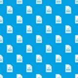 File XLS pattern seamless blue. File XLS pattern repeat seamless in blue color for any design. Vector geometric illustration Stock Photo