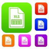 File XLS set collection. File XLS set icon in different colors isolated vector illustration. Premium collection Stock Photos
