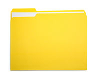 File Yellow Closed. Closed Yellow File Folder Isolated on White Background Royalty Free Stock Photo