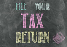 File Your Tax Return Royalty Free Stock Image