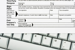 File your taxes returns online Royalty Free Stock Photos