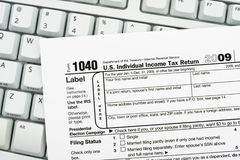 File your taxes returns online Royalty Free Stock Photo