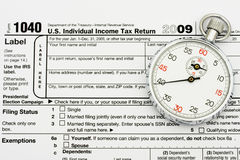 File your taxes on time Stock Photo