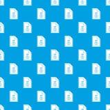 File ZIP pattern seamless blue Royalty Free Stock Image
