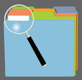 FileFolders and MagnifyingGlass Stock Images