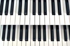 Fileira da chave 2 do piano Fotos de Stock Royalty Free