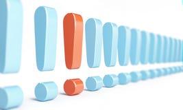 Fileira da marca de exclamação Imagem de Stock