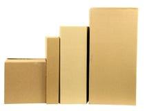 Fileira das caixas Imagem de Stock