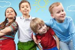 Fileira das crianças Fotos de Stock Royalty Free