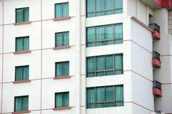 Fileira das janelas Imagens de Stock
