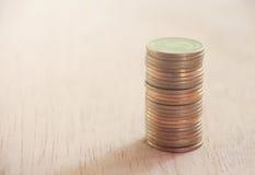 Fileira das moedas Fotografia de Stock