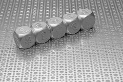 Fileira das moedas do mundo Imagem de Stock Royalty Free