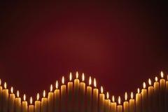 Fileira das velas Imagem de Stock