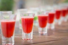 Fileira de bebidas do tiro Imagem de Stock