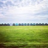 Fileira de cabanas da praia Imagens de Stock Royalty Free