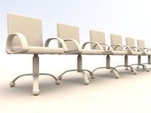 Fileira de cadeiras do escritório Foto de Stock