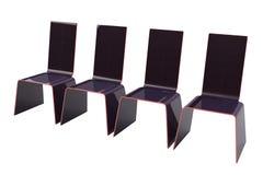 A fileira de cadeiras isolou o modelo 3d Fotos de Stock Royalty Free