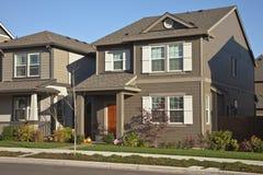 Fileira de casas novas em Willsonville Oregon Imagens de Stock