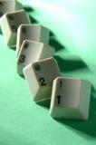 Fileira de chaves na contagem regressiva Fotografia de Stock Royalty Free