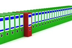 Fileira de dobradores da contabilidade em um fundo branco. Fotos de Stock Royalty Free