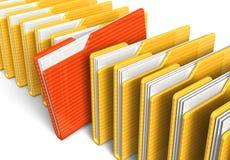 Fileira de dobradores de arquivo ilustração royalty free
