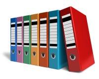 Fileira de dobradores do escritório da cor Fotografia de Stock