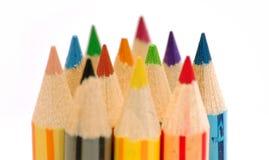 Fileira de lápis da cor Fotografia de Stock Royalty Free