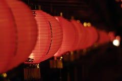 Lanternas chinesas vermelhas fotografia de stock royalty free