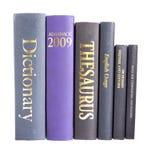 Fileira de livros de referência Imagem de Stock Royalty Free