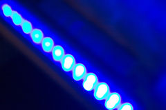 Fileira de luzes conduzidas fotos de stock royalty free