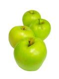 Fileira de maçãs verdes foto de stock royalty free