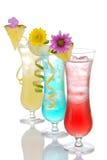 Fileira de martini do margarita dos cocktail Fotos de Stock Royalty Free