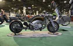 Fileira de motocicletas feitas sob encomenda Fotografia de Stock