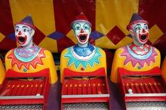 Fileira de palhaços do carnaval fotografia de stock