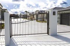 Fileira de unidades residenciais Foto de Stock