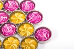 Fileira de velas aromáticas Fotos de Stock Royalty Free