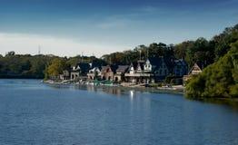 Fileira do Boathouse Fotografia de Stock