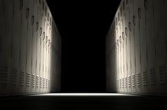 Fileira do cacifo da escola nova Imagem de Stock