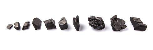 Fileira do carvão vegetal II imagens de stock