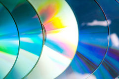 Fileira do CD Foto de Stock Royalty Free