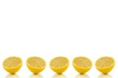 Fileira do limão do fundo Fotos de Stock Royalty Free